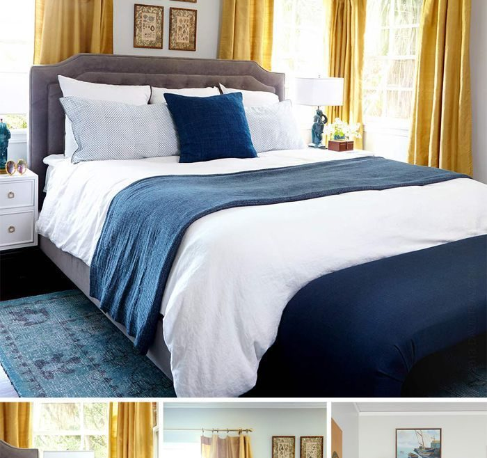 Enthralling Blue Gray Bedroom Of Bedrooms Cool Yellow Bedrooms That Intended