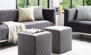 Enthralling Living Room Ottoman Of Conceptreview Inspired Home Alexis Green Velvet Cube