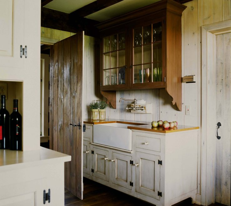 Enthralling White Rustic Kitchen Of