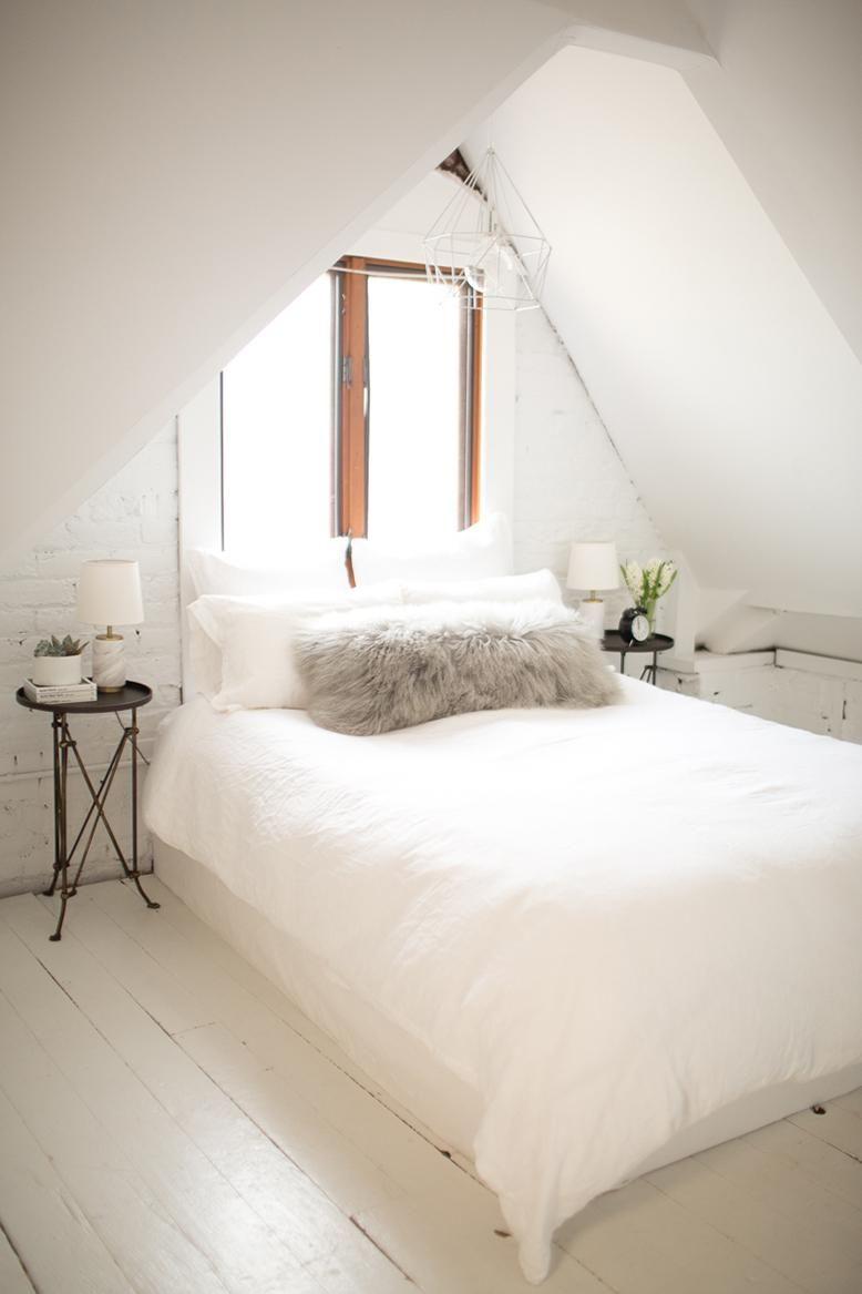 Entrancing All White Bedroom - ACNN DECOR