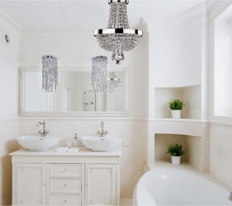 Entrancing Bathroom Chandeliers Ideas Of Bathroom Crystal Mini Small Pendant Chandelier Small Chandeliers
