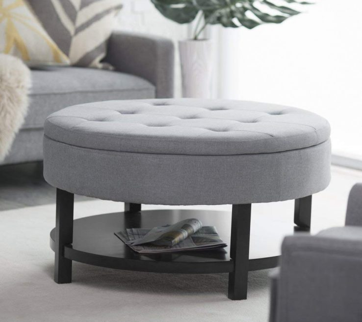 Entrancing Living Room With Ottoman Of Conceptreview Belham Coffee Table Storage Shelf