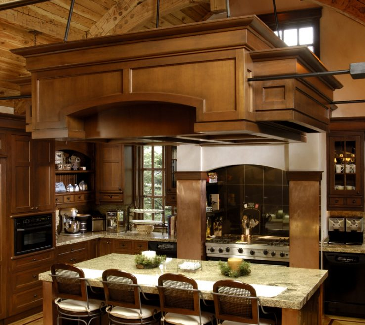 Entrancing Modern Rustic Kitchen Designs Of In Warm Tones