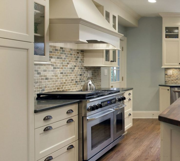 Entrancing White Kitchen Black S Of Transitional Kitchen. Off With Large Range Hood,