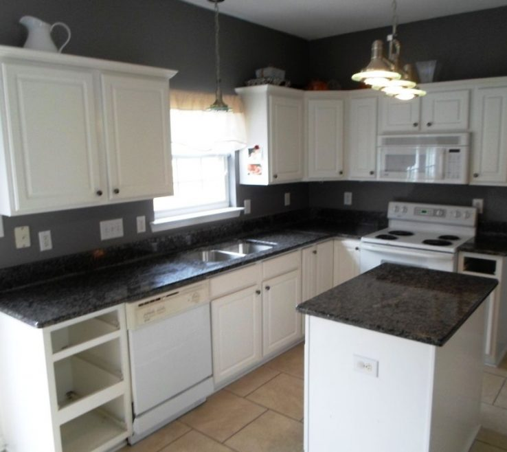 Entrancing White Kitchen S With Black S Of Granite Pict