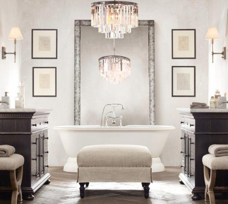 Exquisite Bathroom Chandeliers Ideas Of Ceiling Top