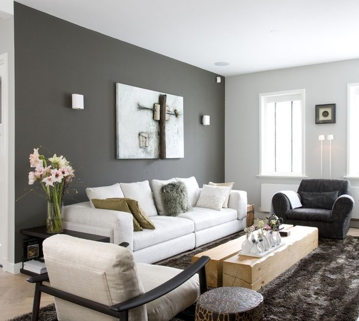 Exquisite Grey Color Living Room Of Walls › With Gray What To Paint