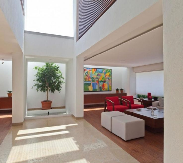 Exquisite High Ceiling Living Room Of With And Skylight