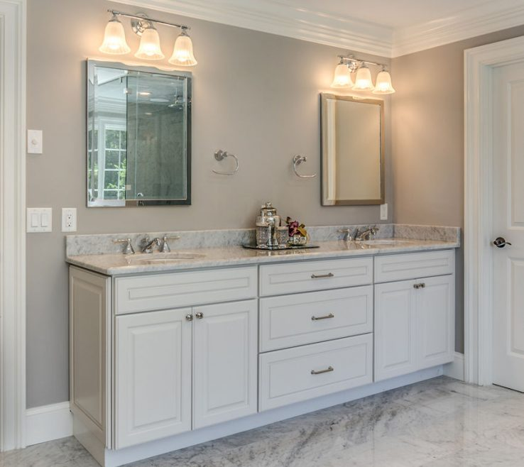 Exquisite His And Her Bathroom Vanities Of Winchester Ma Custom Designed Vanity By Carole