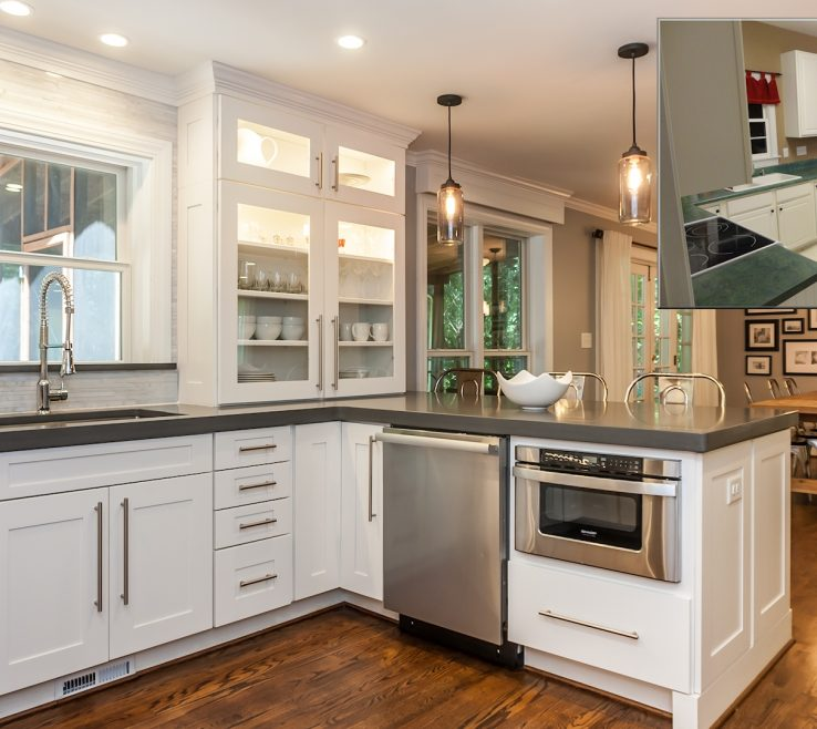 Exquisite Kitchen Renovation Before And After Of Andamp Photos Of A New Homes