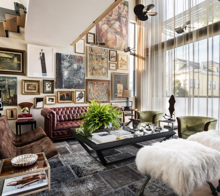 Exquisite Ottoman Ideas For Living Room Of Eclectic With Leather Sofa