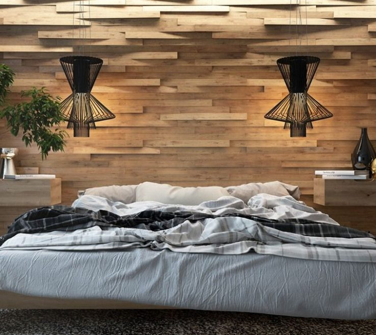 Extraordinary Best Bedroom Of 7 The Theme With Creative Wood Wall