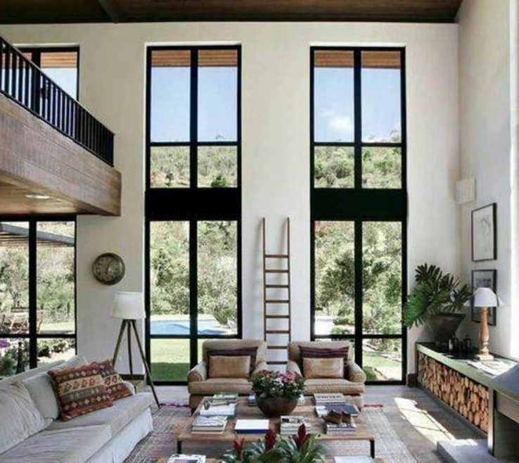 Extraordinary High Ceiling Living Room Of Home Design And Decor , E Designs
