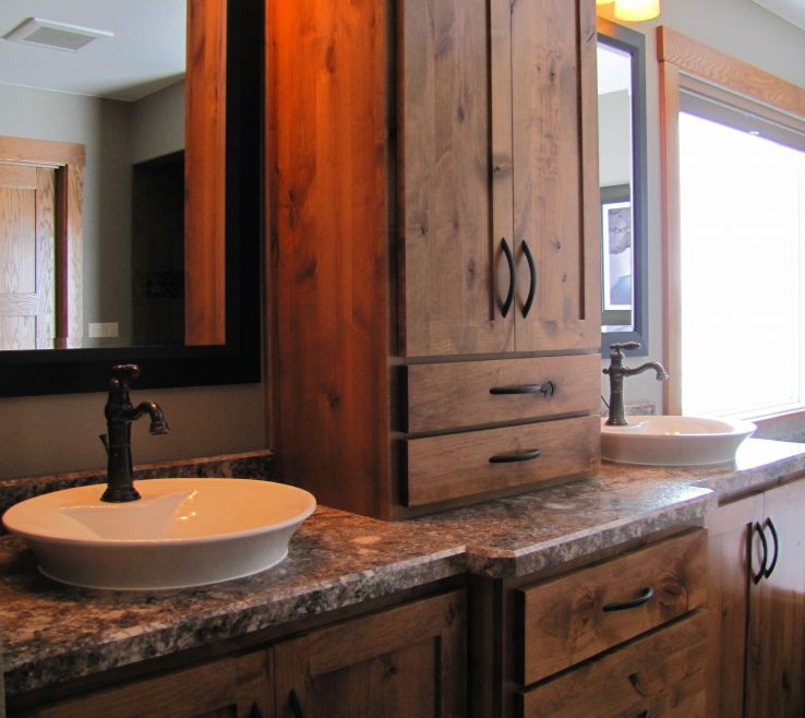 Extraordinary His And Her Bathroom Vanities Of Rustic Double Vanity Ideas Rustic Alder