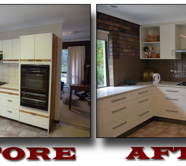 Extraordinary Kitchen Renovation Before And After Of Kitchens Brisbane