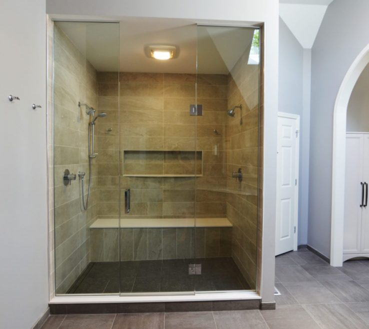 Extraordinary Master Bathroom Showers Of Glass Shower Elegant Luxury Master Bath Naperville Il