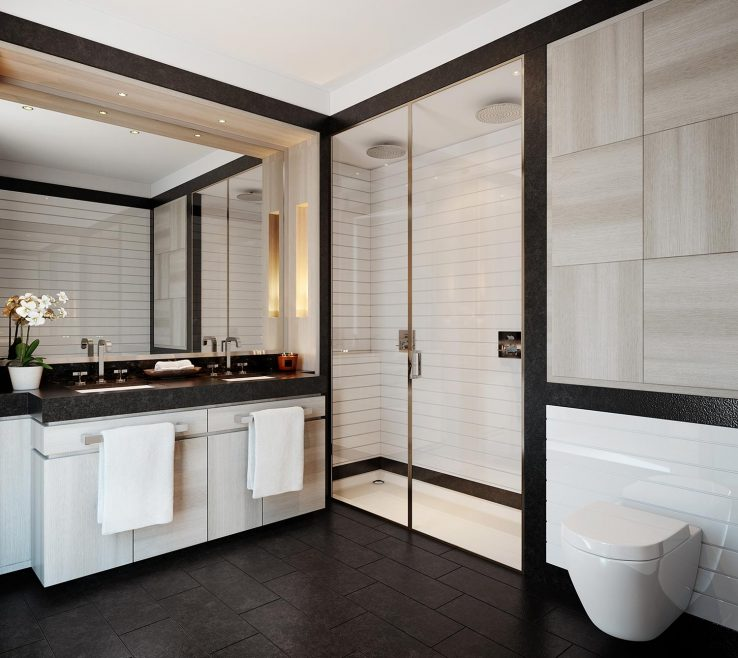 Eye Catching Apartment Bathroom Of Embassy Gardens One Bedroom