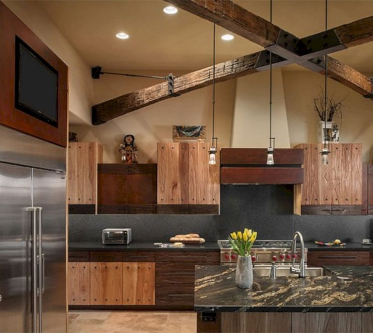 Eye Catching Rustic Kitchen Pictures Of Modern Vintage