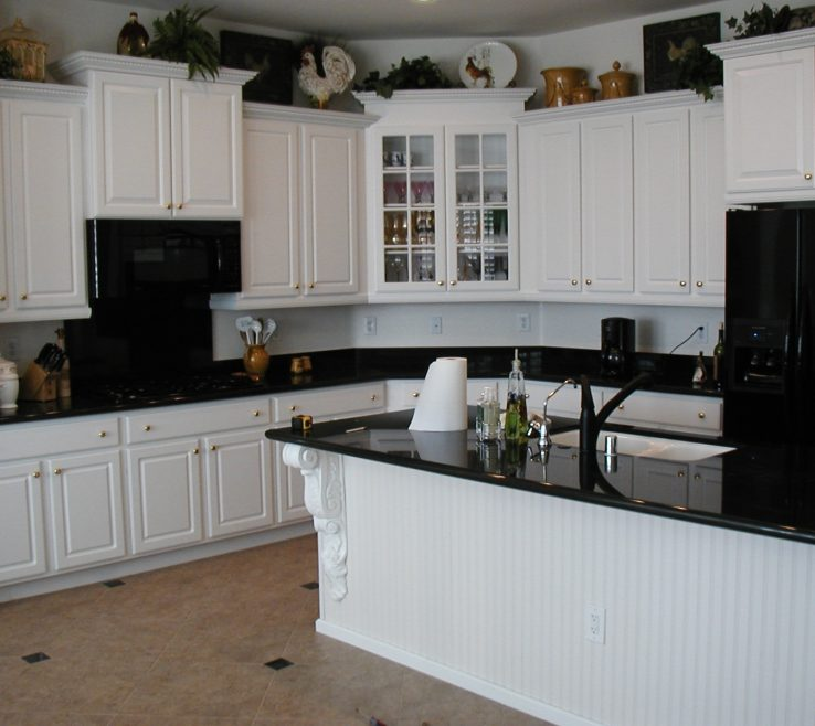Eye Catching White Kitchen Black S Of S