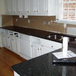 Fascinating Black Marble Kitchen S Of Interesting With White