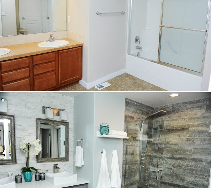 Fascinating Master Bathroom Showers Of Shower Tile Rock