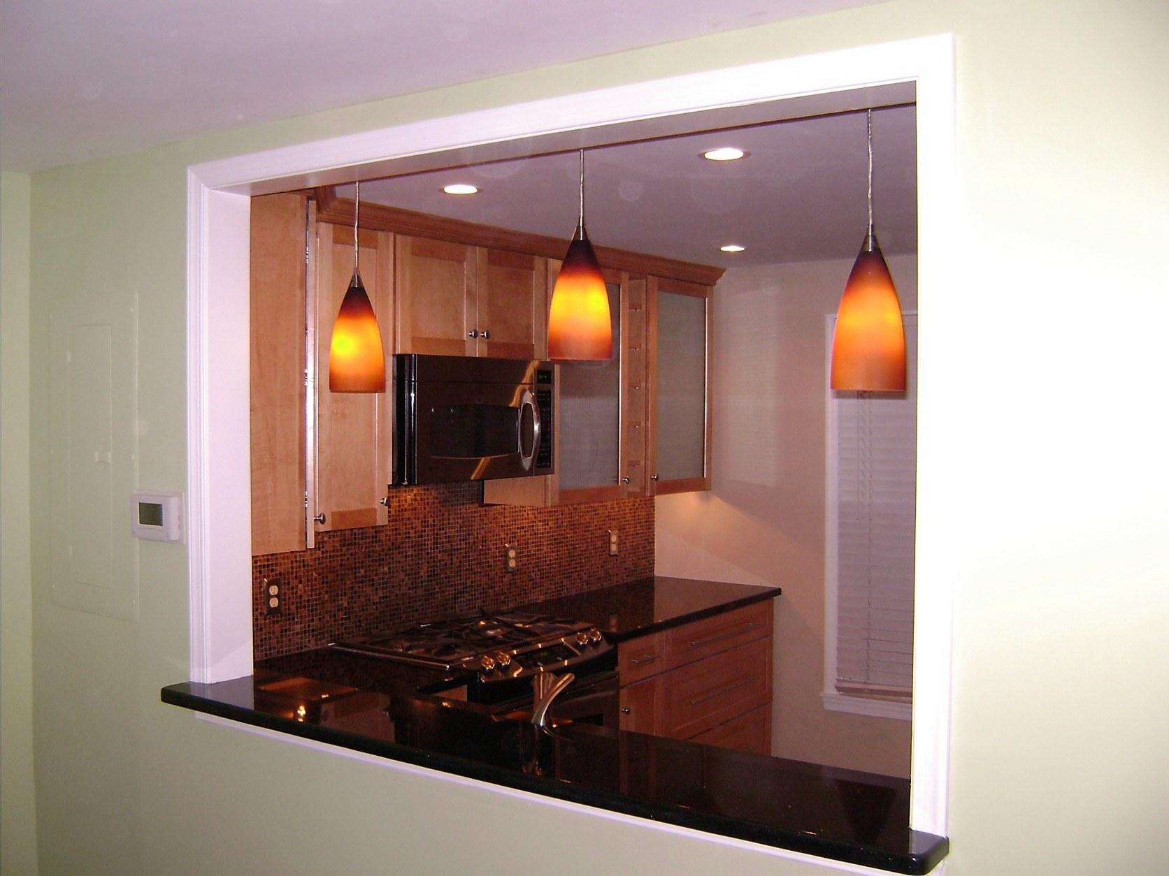 Fascinating Open Wall Between Kitchen