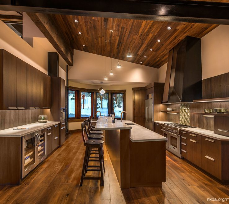 Fascinating Rustic Contemporary Kitchen Of Ski Lodge