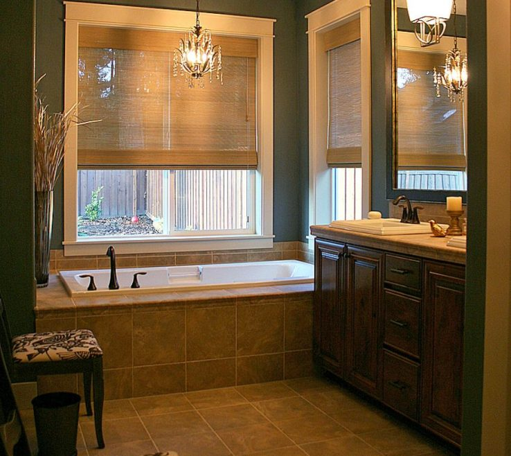 Fascinating Small Bathroom Makeover Ideas Of Wide Windows Decor With Marble Floors