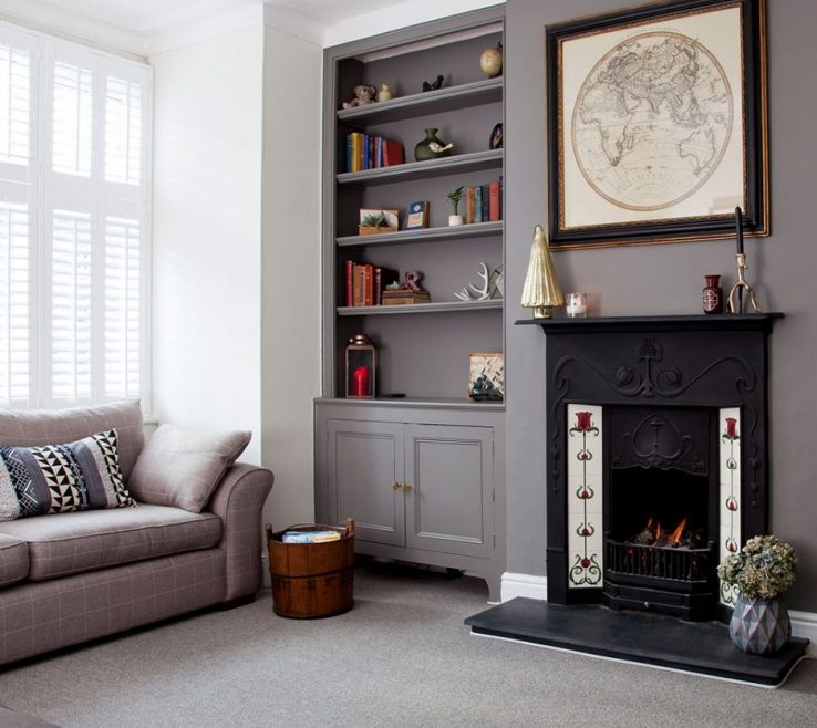 Grey Paint Living Room Of Warm Warm Decor