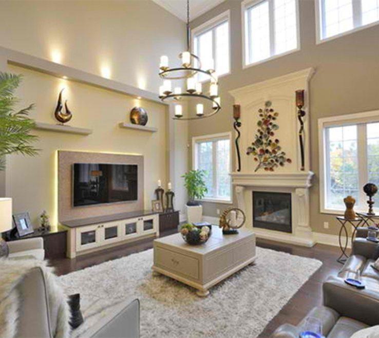 High Ceiling Living Room Of Decorating A With Ceilings Decoration
