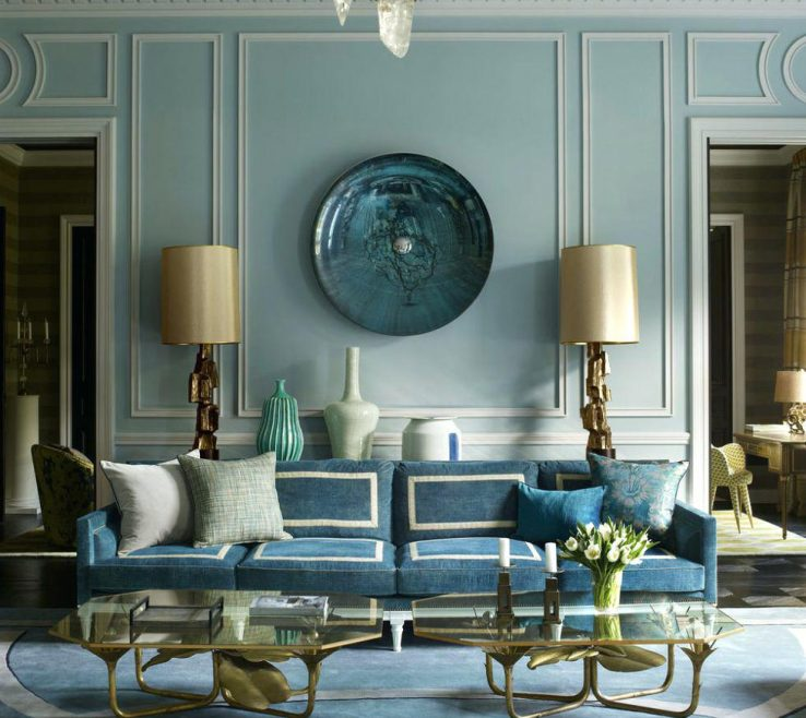 Impressing Blue And Green Living Room Of Ideas Rooms Brown Ideas