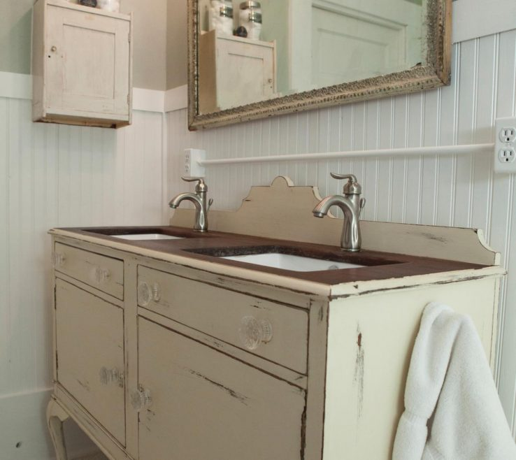 Impressing His And Her Bathroom Vanities Of Antique Dining Ed As Vanity
