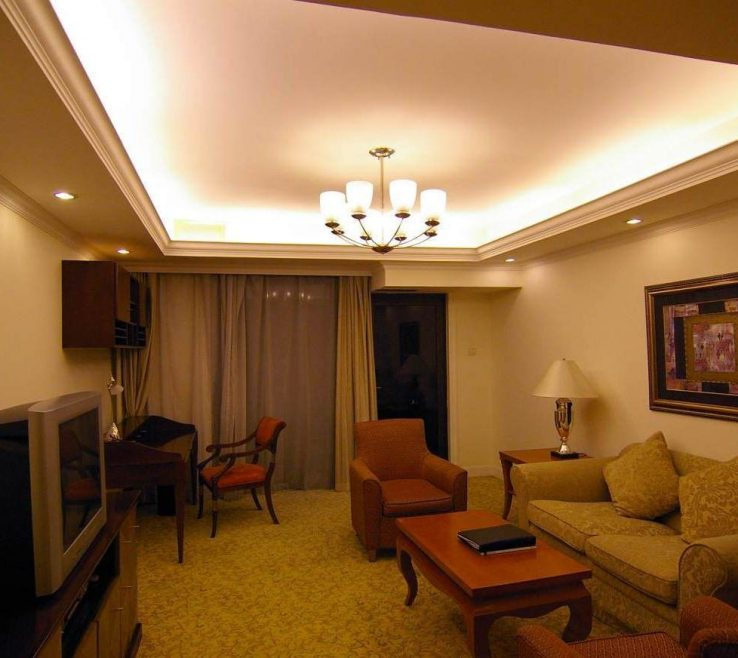 Impressing Living Room Ceiling Lighting Ideas Of Low White Fabric Tall Window Curtain White