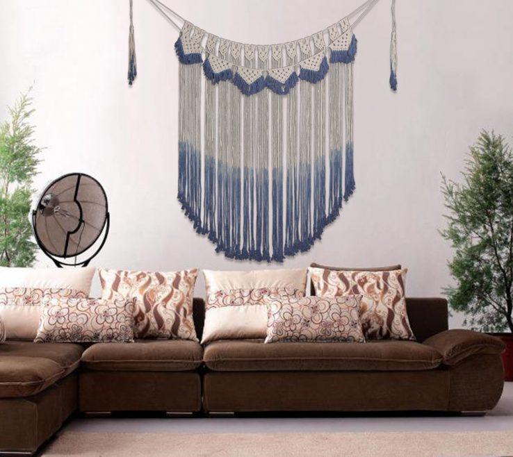 Impressing Living Room Tapestry Of Vintage Handmade Cotton Macrame Hanging Decorations Bohemian