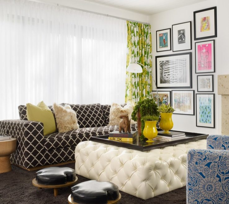 Impressing Ottoman Ideas For Living Room Of Creative Small Spaces Decoration With White