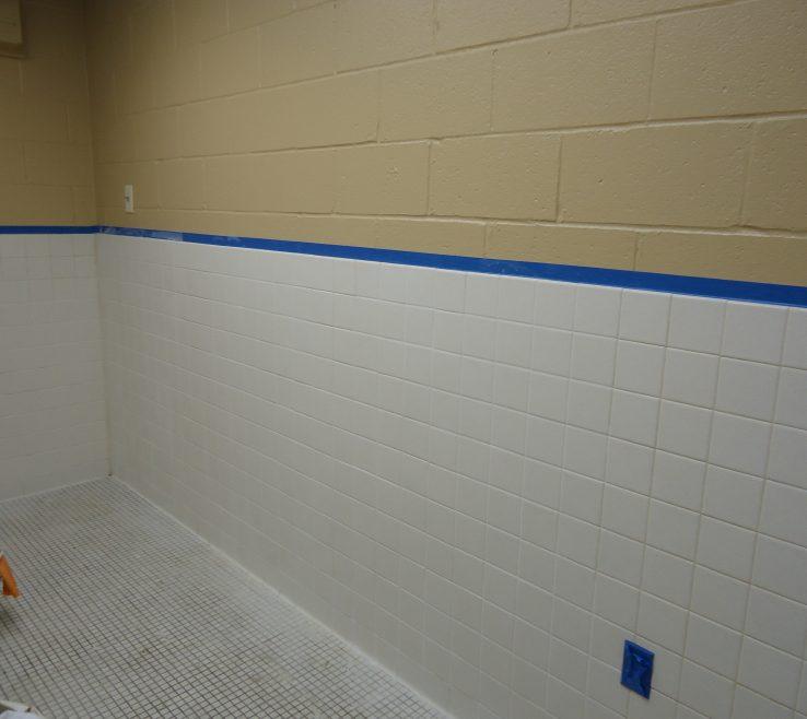 Impressing Reglazing Bathroom Tile Of Original Finish: White