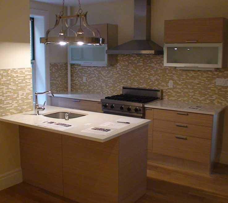 Impressing Small Apartment Kitchen Ideas Of Kitchen. Brown Wooden And Stainless Steel