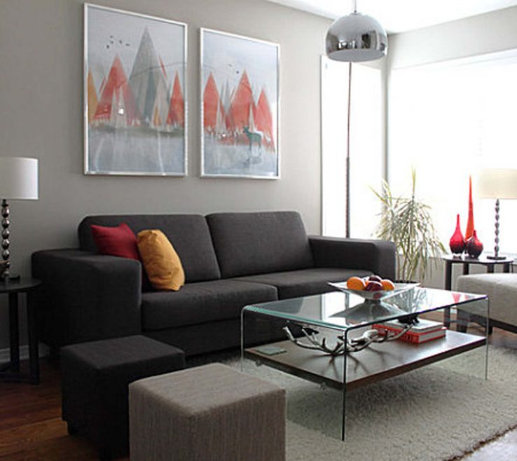 Impressive Grey Colour Schemes For Living Rooms Of Room Sofa