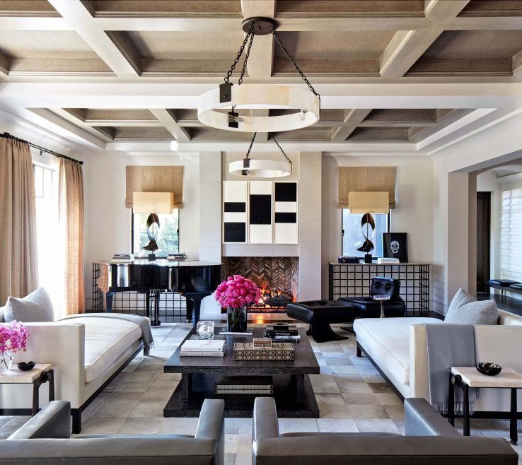 Ing Architectural Digest Living Room Of Inside Khloé And Kourtney Kardashian