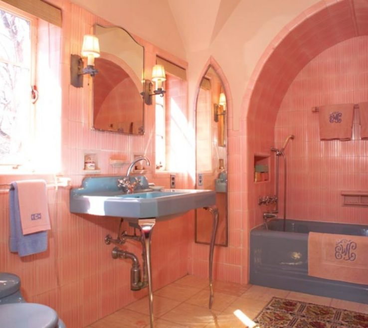 Ing Colorful Bathrooms Of Pink Was A Popular 1930s Color Choice,