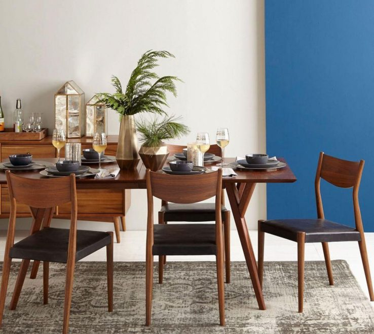 Ing Mid Century Dining Room Of Mid Century Expandable Table Walnut West Elm