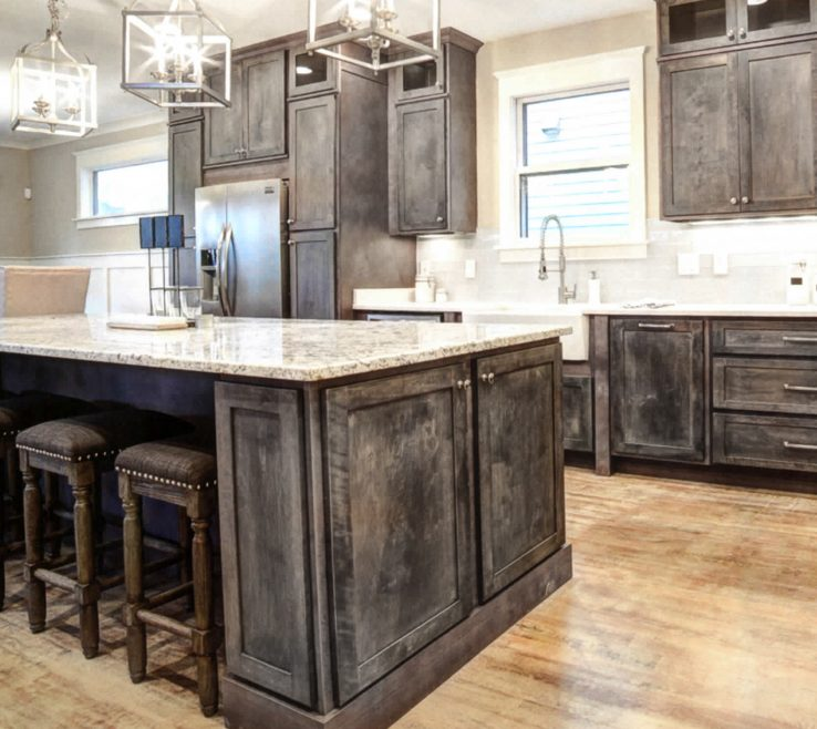 Ing Rustic Style Kitchen Of Rta · Shaker Gray And Vanities,