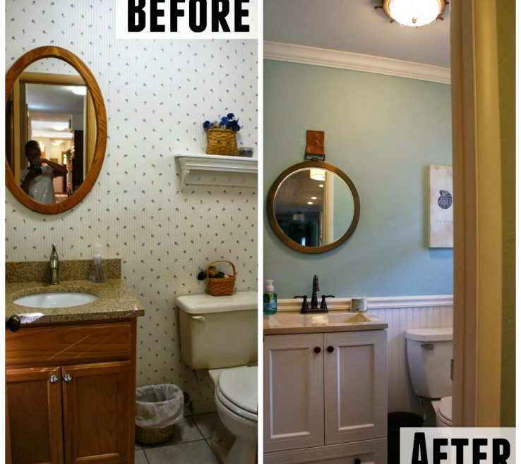 Inspiring Bathroom Before And After Of After: Half Bath