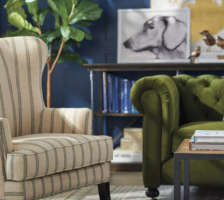 Inspiring Blue And Green Living Room