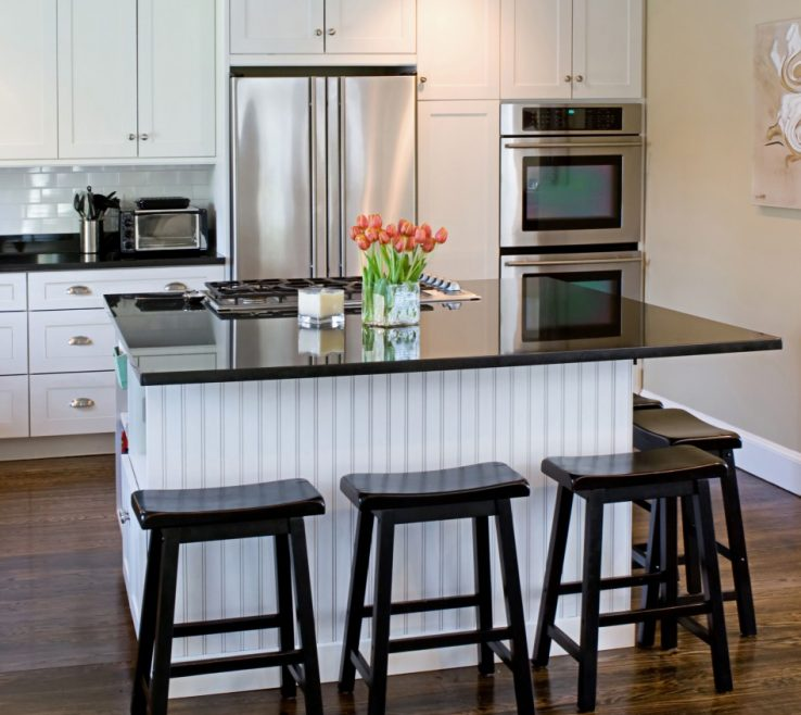Inspiring Kitchens With Black S Of Kitchen White Shaker S, Beadboard Backing