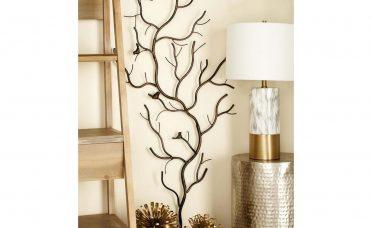 Inspiring Rustic Bedroom Wall Decor Of Iron Tree Decorative Nature Art Sculpture Home