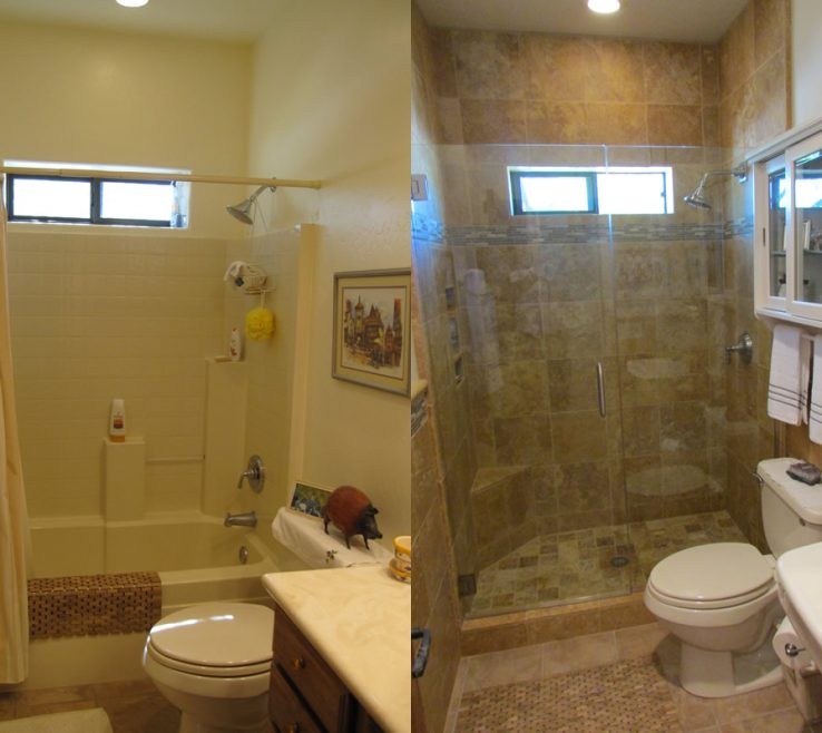 Interior Design For Bathroom Before And After Of Image Of: Smart Small Makeovers