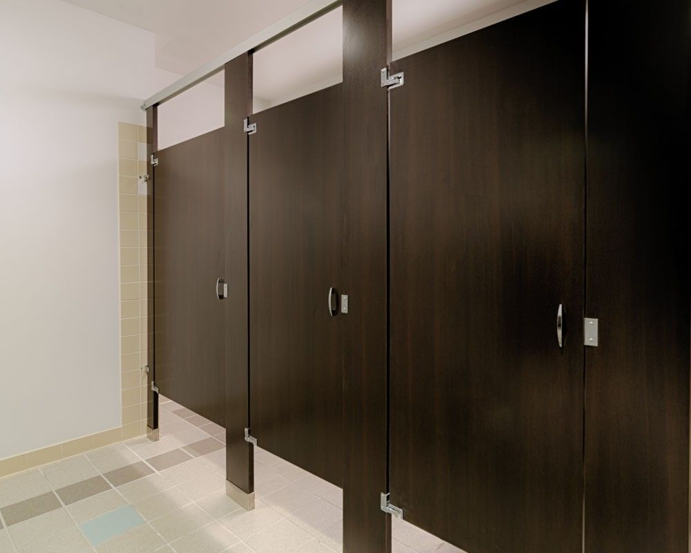 Interior Design For Bathroom Partition Walls Of Ironwood Manufacturing Wood Pattern Plastic Laminate Toilet