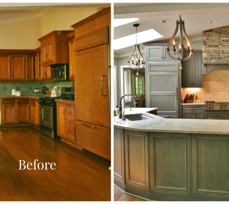 Interior Design For Before And After Kitchen Remodel Of Renovations With Turqouise S With Granite
