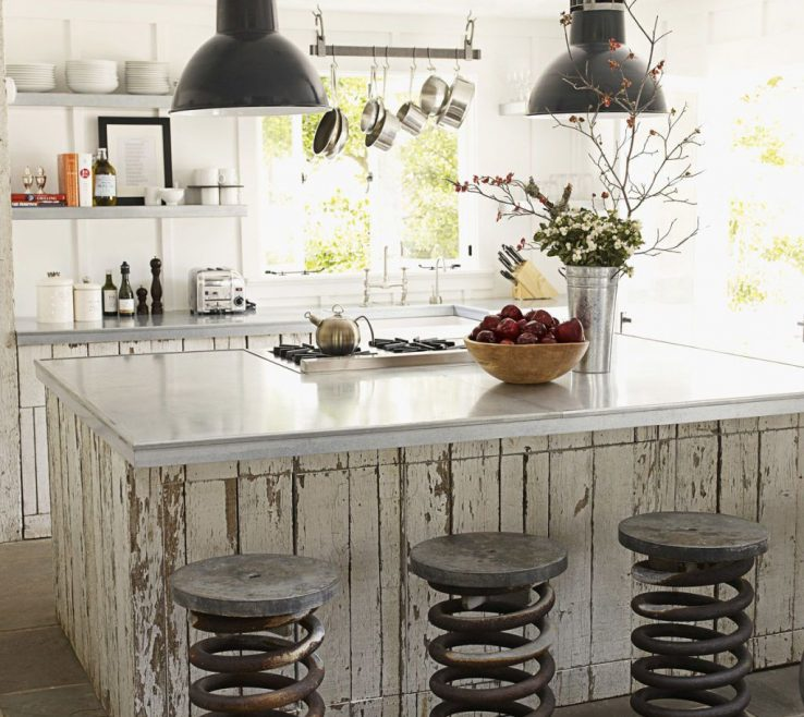 Interior Design For White Rustic Kitchen